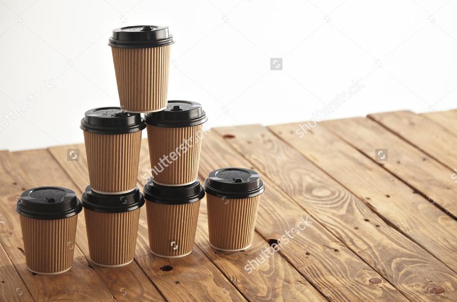 Coffee-Cup-Mockup-on-Brown-Cardboard