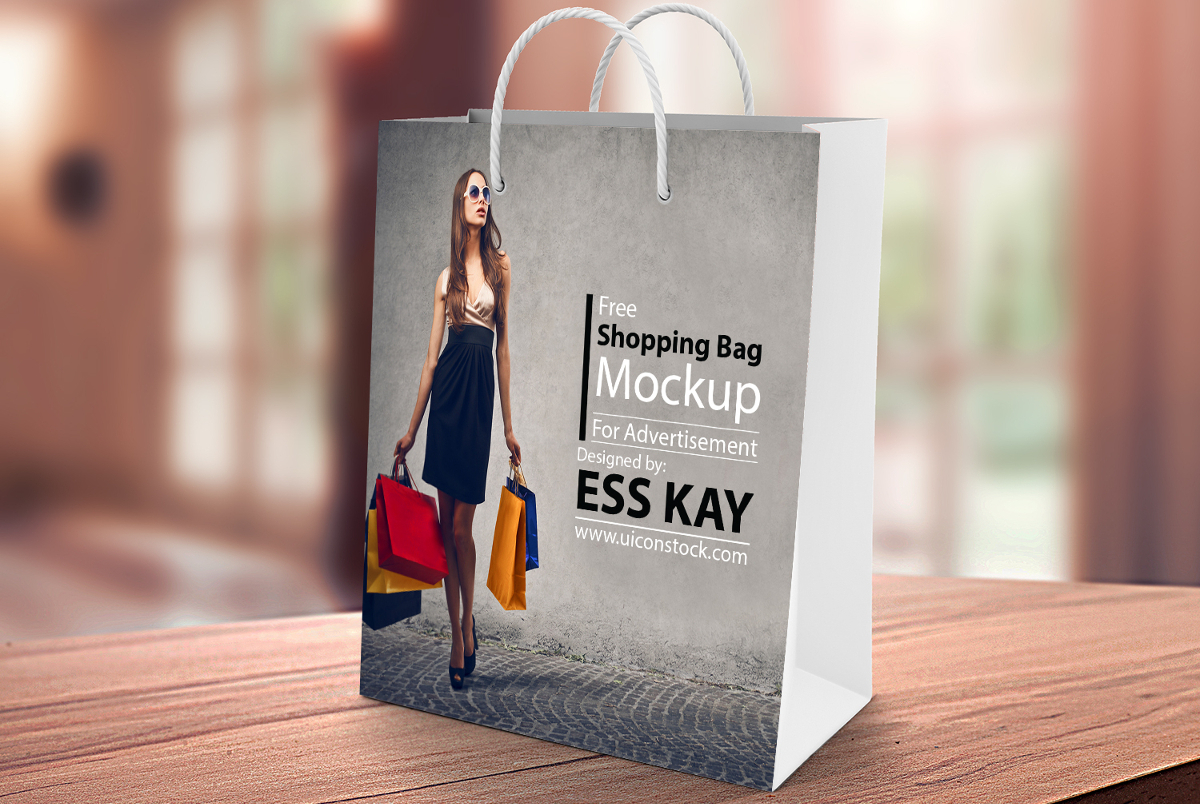 Colorful Shopping Bag Mockup