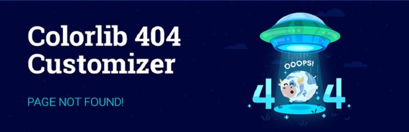 Colorlib 404 Customizer