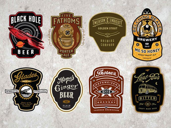 Cran Beer Labels by David Cran