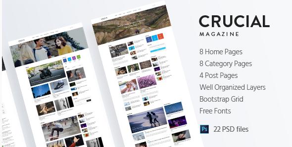 Crucial - Magazine PSD Template