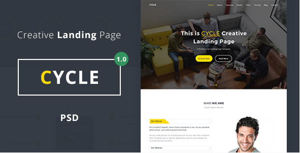Cycle - Landing Page - PSD
