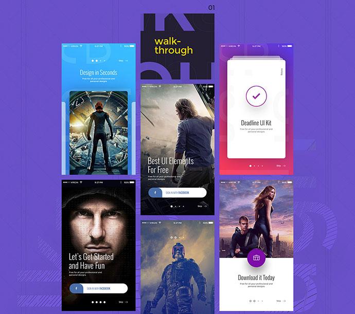 Free Mobile UI Kits