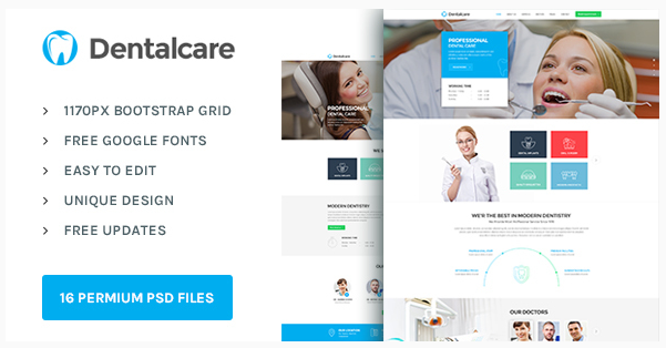 Dental Care  Health & Medical PSD Template