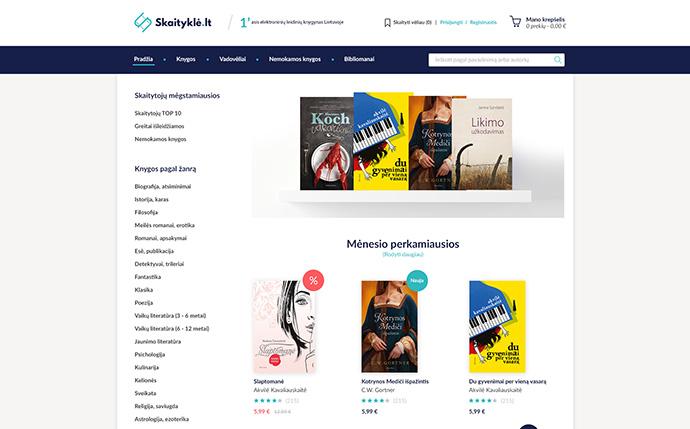 E-book shop design