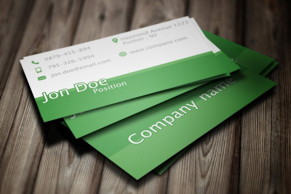 Elegant-Green-Business-Card-PSD