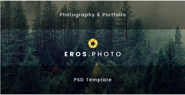 Eros - Photography & Portfolio PSD Template