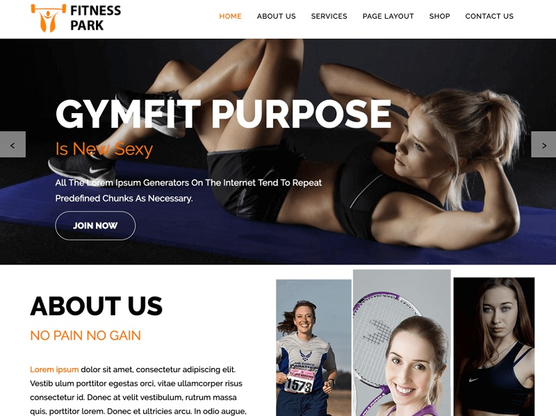Fitness Park Fitness Theme