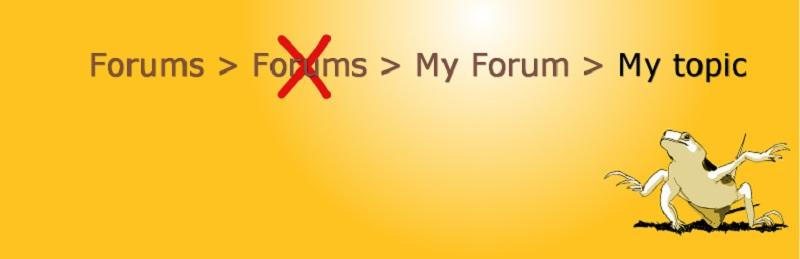 Fix Forum Breadcrumbs