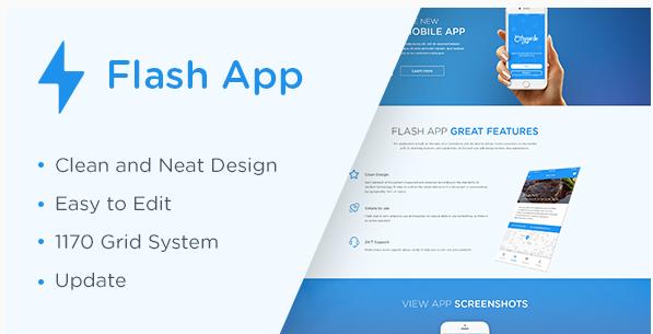 Flash App Landing Page