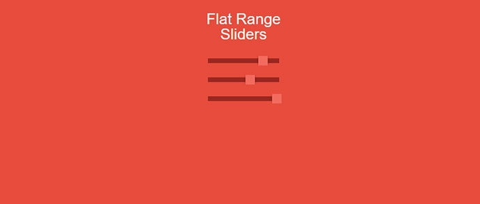 Flat Range Sliders