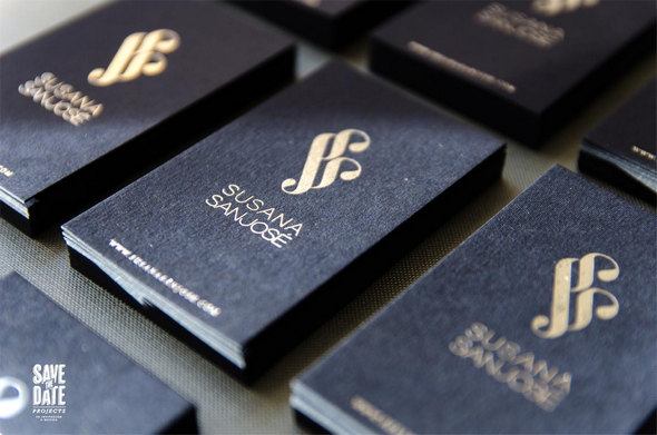 Classy Foil Stamped Business Cards