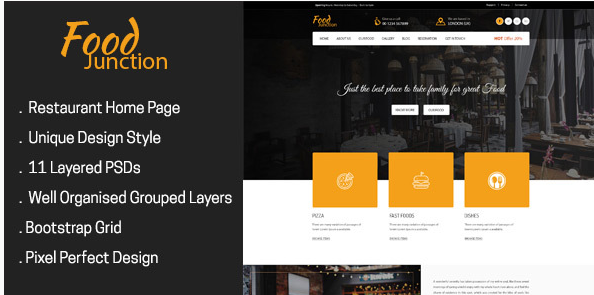 FoodJunction - Restaurant PSD Template