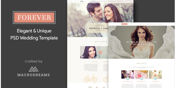 Forever  Wedding PSD Template