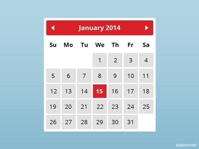 Free Calendar Widget PSD