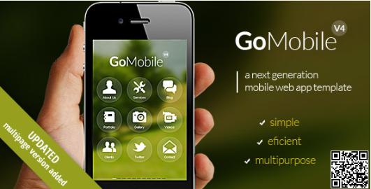 Top jQuery Mobile Web Templates