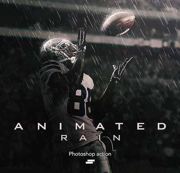 Gif Animated Rain Photoshop Action