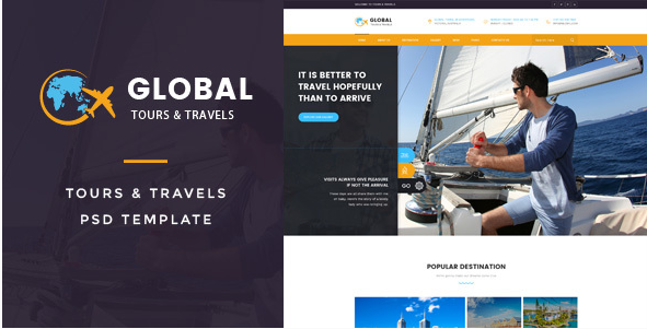 Global  Tours & Travels PSD Template