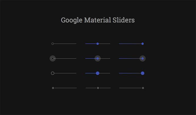 CSS Range Slider Designs
