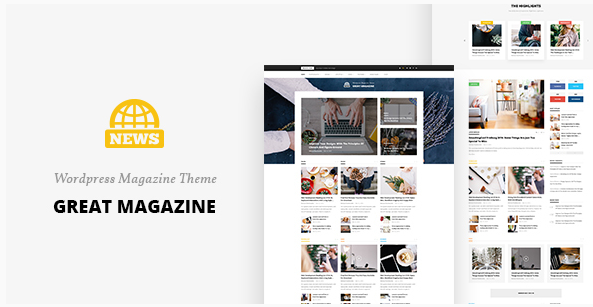 Great Magazine - Magazine Psd Template