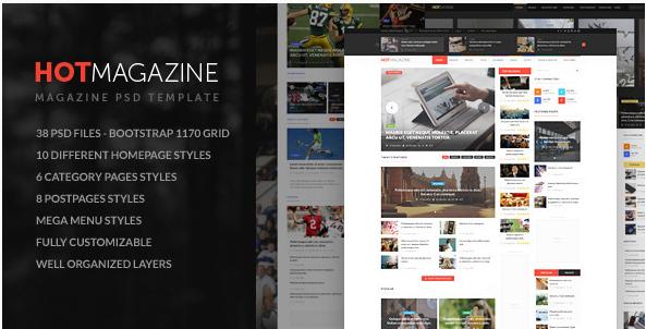 HOTMAGAZINE  Magazine PSD Template