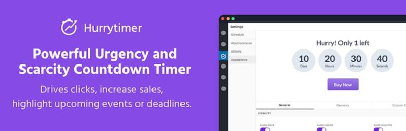 HurryTimer Free WordPress Countdown Plugins