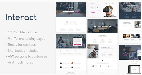 Interact - Multipurpose Landing Page Template