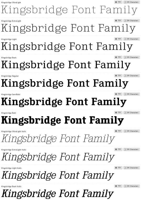 Kingsbridge-Font-Family