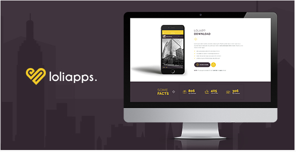 LoliApps - Landing page Theme