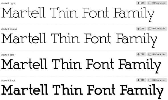 Martell-Font-Family