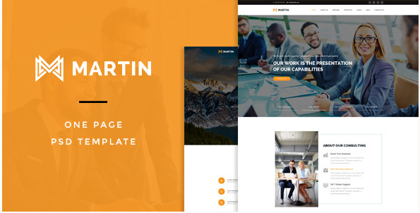 Martin One Page PSD Template