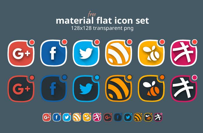 Material Design Social Icons