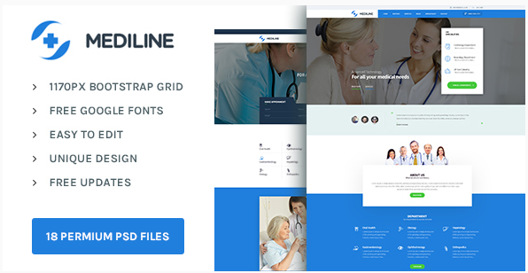 Mediline  Medical & Health PSD template
