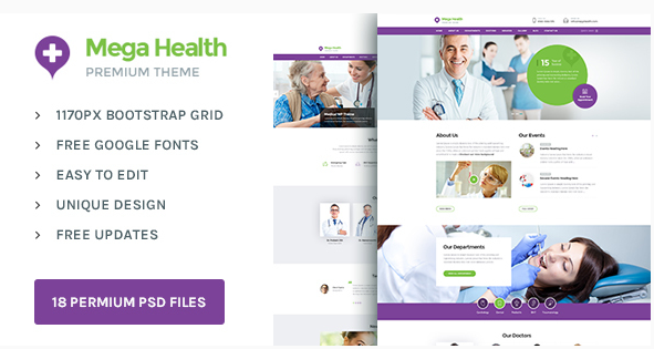 Mega Health  Theme for Health and Medical Centers