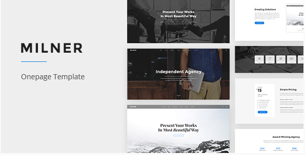 Milner - Onepage PSD Template