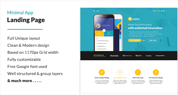 Best Landing Page PSD Templates