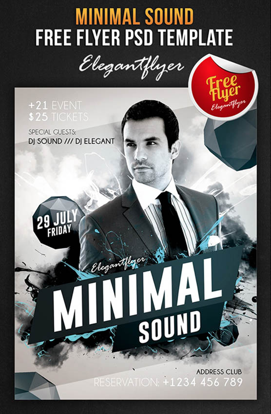 Minimal Sound – Free Flyer PSD Template