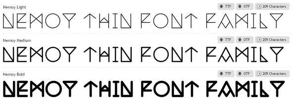 Nemoy-Font-Family
