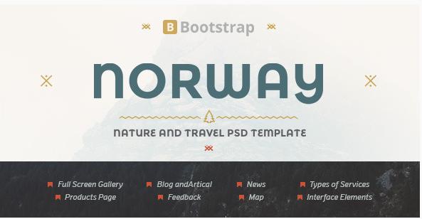 NorwayTheme - Nature Travel PSD Template
