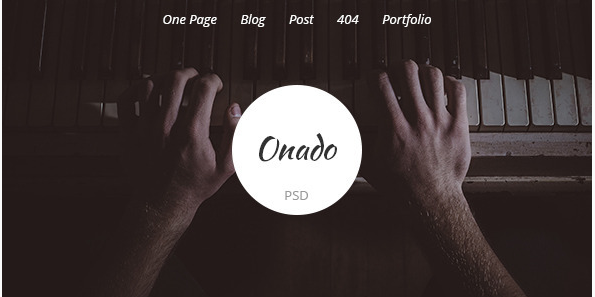 Onado - One Page PSD Template
