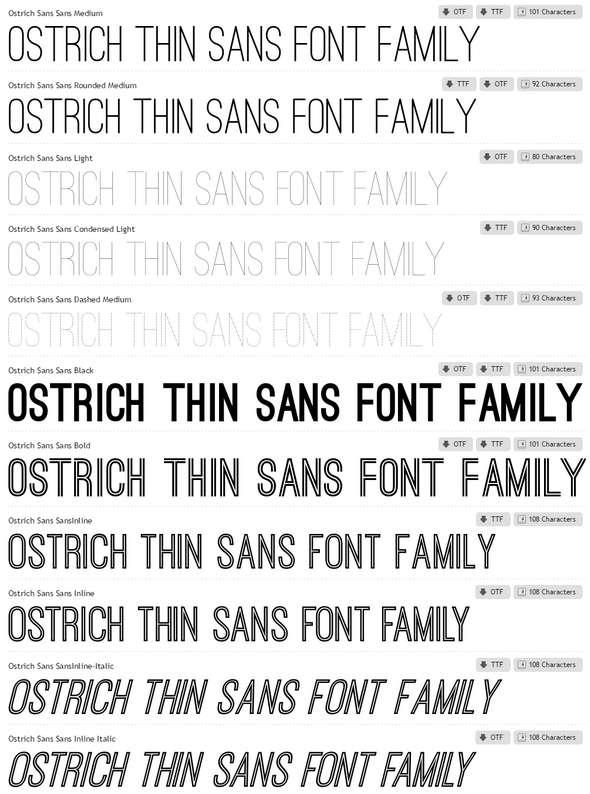 Ostrich-Sans-Font-Family