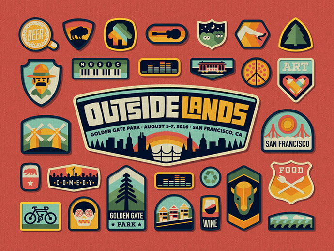 Outside Lands 2016 Festival Branding by DKNG