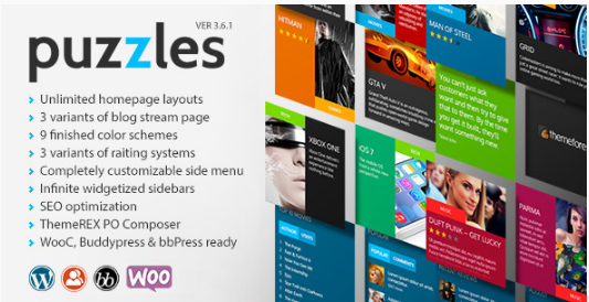 PUZZLES Best WordPress Review Themes