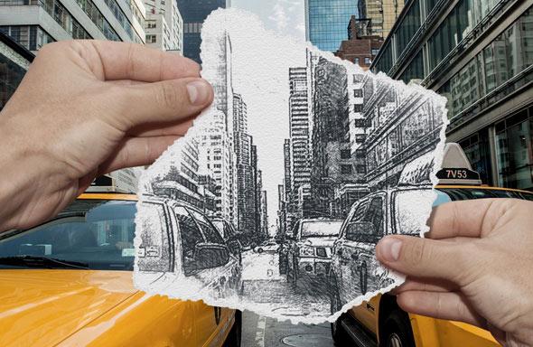 Pencil Sketch vs Camera Photo Effect