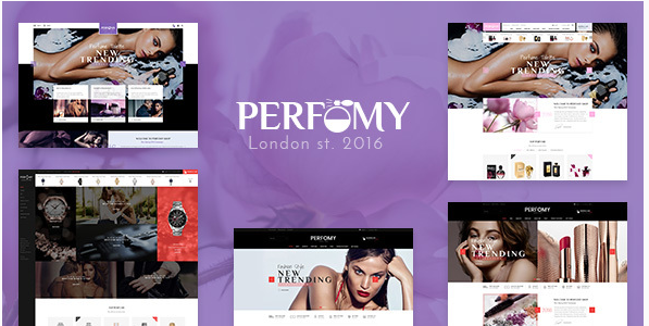 Perfomy - Perfume  Jewelry  Accessories PSD Template