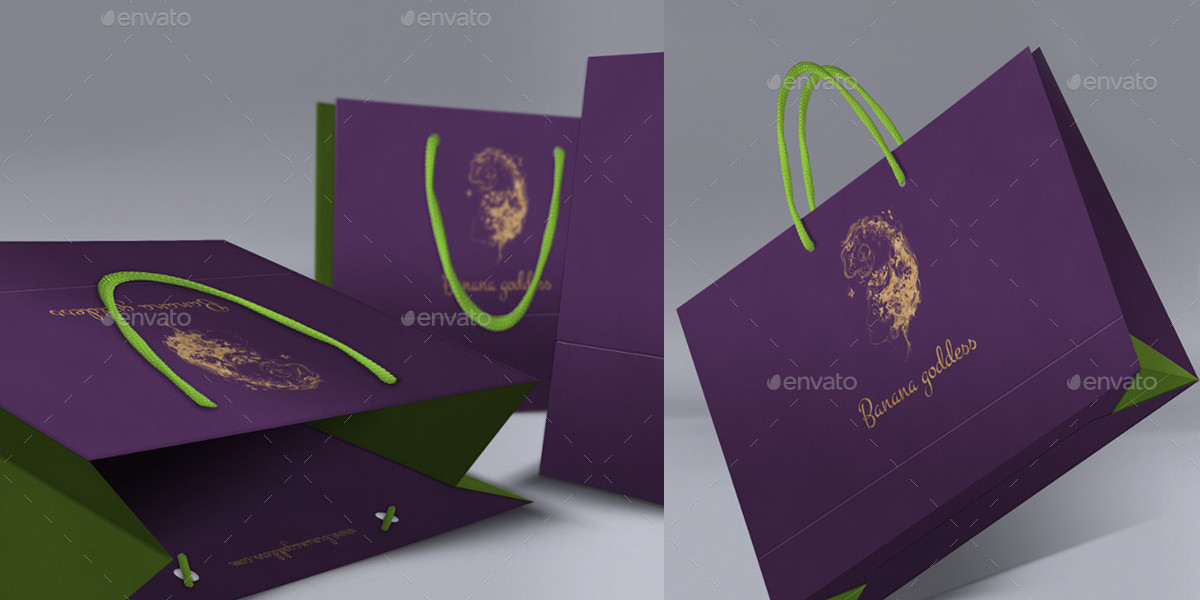 Photorealistic Shopping Bag Mockups