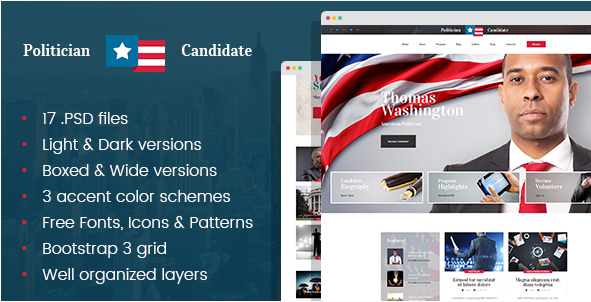 Best Political PSD Website Templates