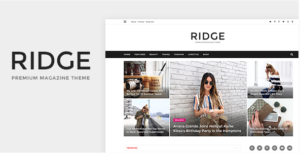 Ridge - Magazine PSD Template