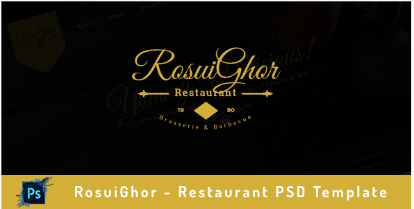 RosuiGhor - Restaurant PSD Template