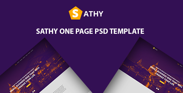 Sathy One Page PSD Template